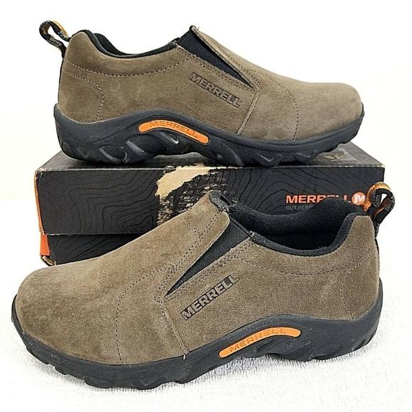 f3687e09f5 Merrell Shoes | Jungle Moc Gunsmoke Suede Boys 3m | Poshmark